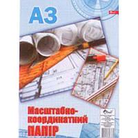 Бумага масштабно-координатная Скат УП-192 синий А3 10л, офсет 70г/м2, с европодвесом