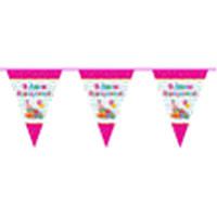 Флажки Fun Fun F-90353(1) розовый С Днем Рождения
