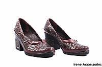 Туфли женские кожаные Guero (изысканные, удобная колодка, кожа, коричневые, Турция)