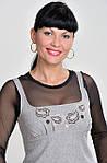 Сарафан из твида шерстяной с вышивкой ПЛ 101, фото 2