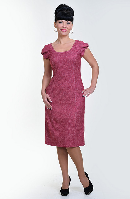 Платье женское с коротким рукавом