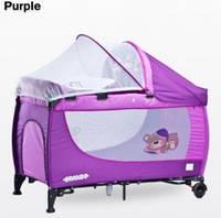 Манеж-кровать Caretero Grande, цвет purple