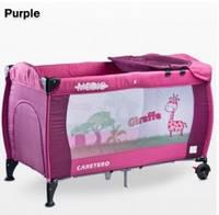 Манеж-кровать Caretero Medio Classic, цвет purple
