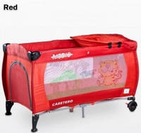 Манеж-кровать Caretero Medio Classic, цвет red