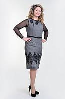 Платье-сарафан теплое из шерстяного твида