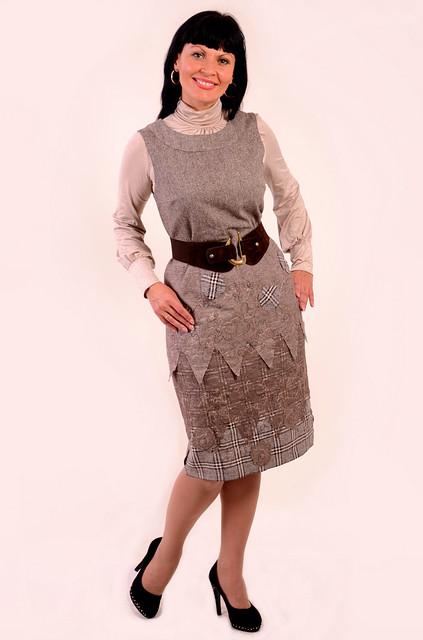 Платье-сарафан теплое на подкладке