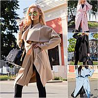Пальто из кашемира с поясом рукав японка! 7 Цвета!, фото 1