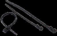 Стяжка нейлоновая Сталь 65011 3.5х150 мм черная (42661) (100 шт./уп.)