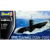 Сборная модель Revell Подводная лодка USS DALLAS SSN-700 1:400 (5067)