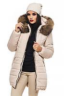 Зимняя женская куртка с натуральной опушкой