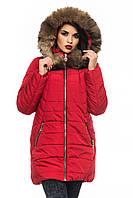 Женская зимняя куртка-парка с натуральной опушкой