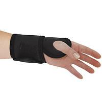 Бандаж шина на лучезапястный сустав с отведением большого пальца руки Черный Алком Размер универсальный