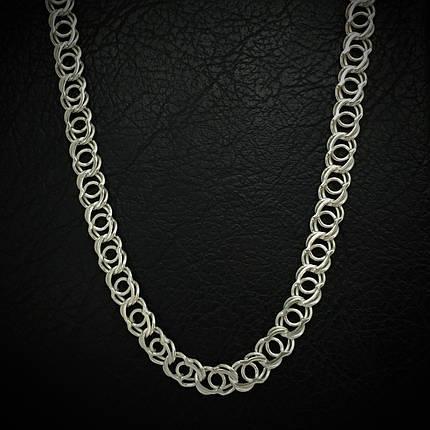 Серебряная цепочка, 500мм, плетение Арабский бисмарк, 24 грамма, светлое серебро, фото 2