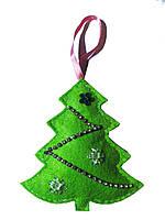 Игрушка новогодняя ручной работы Зеленая Ёлка