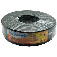 "TV кабель 75 Ом ""FinMark"" RG-6 Black SM (100 м)"