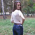 Джинсы женские зауженные с высокой посадкой Miss Free тёмно-синего цвета, фото 2