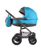 Коляска детская 2 в 1 Tako AMBRE LIGHT 04 голубая-графит