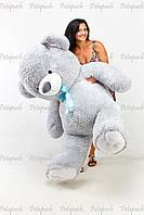 Большой плюшевый мишка, медведь Томми 180см серый