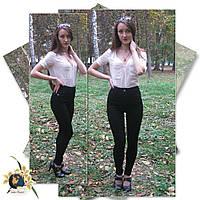 Джинсы женские на высокой талии  Version чёрного цвета евробайка