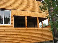 Пристройка деревянная к кирпичному дому 4х5.