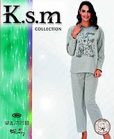 Пижама женская на флисе K.S.M. 4851
