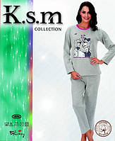 Пижама женская на флисе K.S.M. 4853