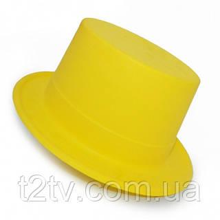 Шляпа Цилиндр Пластик Флок