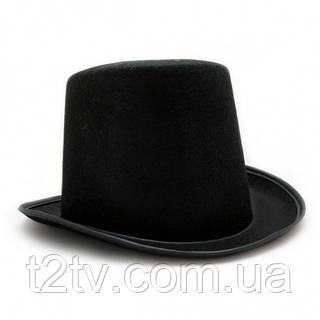 Шляпа Цилиндр из фетра (черный)