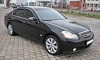 """Дефлекторы окон Infiniti M-35 (45) 2006-2010 (Nissan Fuga) """"SIM"""" темные (4шт/комп)"""