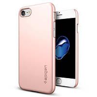 Чехол Spigen для iPhone 7 Thin Fit , Rose Gold, фото 1
