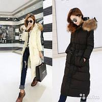 Куртка-пальто с мехом енота и карманами Куртка-пальто с мехом енота и карманами