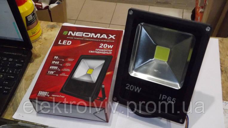 Прожектор светодиодный LED 20W NEOMAX, фото 2