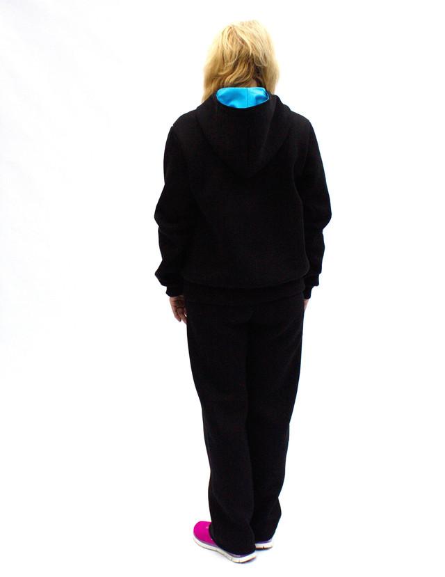 Зимний женский спортивный костюм теплый - спина - фото teens.ua
