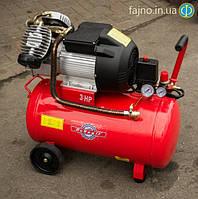 Двухцилиндровый компрессор Победит РАС-50-2 (360 л/мин, 50 л), фото 1