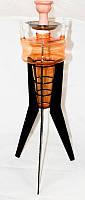 Кальян Медуза 80см, каляьн с желтым стеклом, кальян высокий