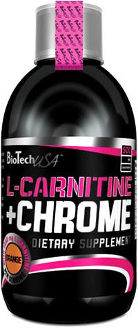 Жиросжигатель L-Carnitine 35.000 +chrome  Biotech 500мл (вкусы)