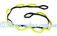 Лента для растяжки LiveUp Stretch Strap: 8 петель, длина 180см