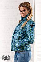 Осенняя женская куртка камуфляжная 38- 2063