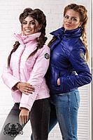 Осенняя женская куртка камуфляжная 38- 2062