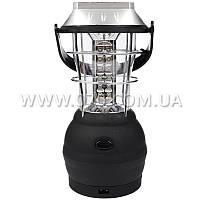 Кемпинговый динамо фонарь (36 LED, 500 люмен, 3хААА/АКБ/динамо/Solar/220V/12V)