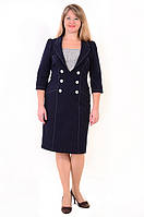 Платье-костюм  из плотного джинса, на полную фигуру, деловое ,пл 135.