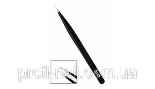Заостренный пинцет для наращивания ресниц прямой (японская сталь) 12 см
