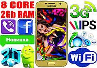 """Новый Samsung S7! 8 ядер, 2Gb RAM, экран 5"""" IPS,GPS,3G"""
