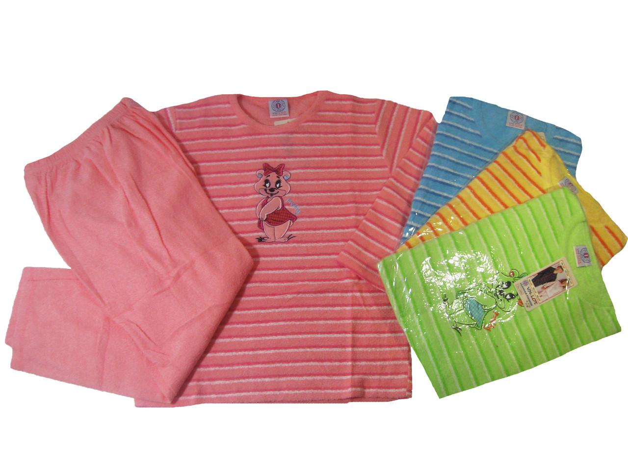 Пижама махровая с начёсом для девочек, размеры 86/92-134/140, арт. 466