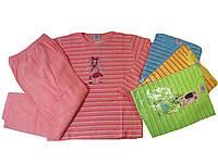 Пижама махровая с начёсом для девочек, размеры 86/92-134/140, арт. 466, фото 1