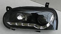 Volkswagen Golf 3 оптика передняя черная