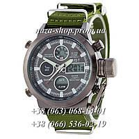 AMST Black-Black Green Wristband