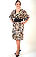 Платье  трикотажное с тигровым принтом  кимано ПЛ 662423 XL / 50