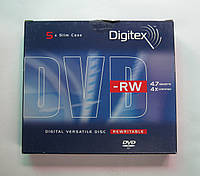Диски DVD-RW Digitex 4.7Gb 4x Slim Case (5pcs)