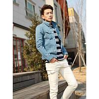 Голубая куртка мужская